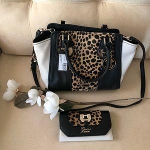 Leopard print shoulder bag and pocketbook! NWT